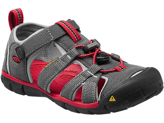 Keen Seacamp II CNX Sandals Barn magnet/racing red